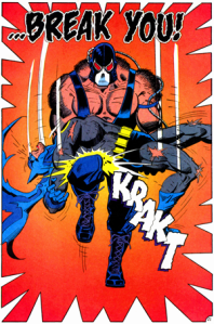 The original comic panel from KNIGHTFALL