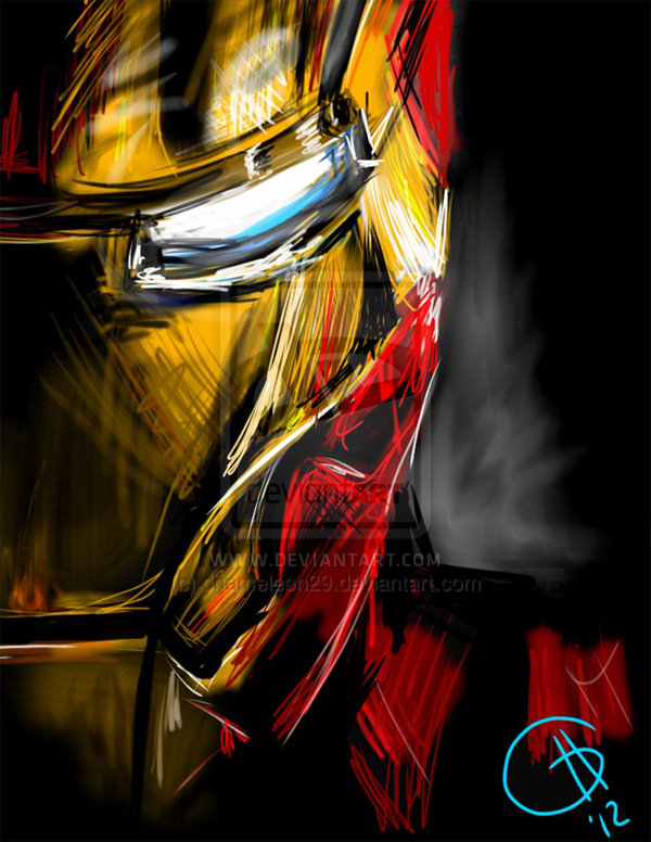 Iron Man print by chameleon29