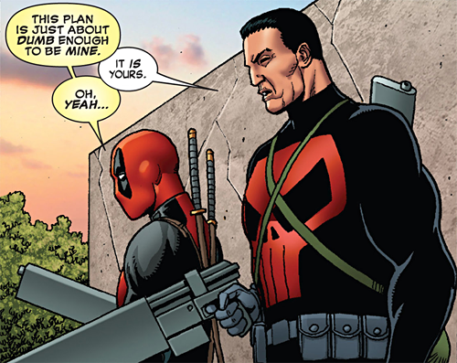 Seriously, has the Punisher ever been drawn worse? At least you can't screw up Deadpool...