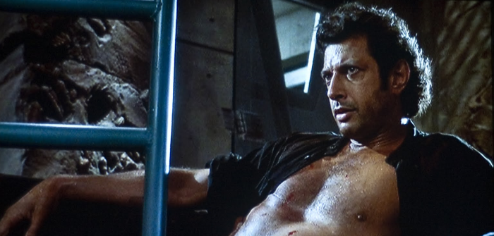 Ian Malcolm was always a pimp, even when he was nearly crippled by a fucking T-Rex, yo!