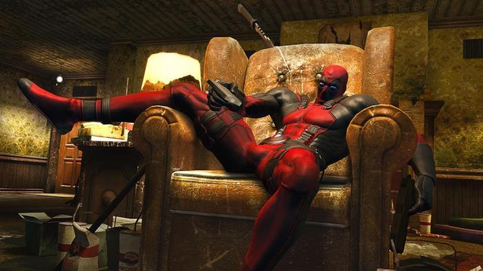 Deadpool, takin' it sleazy, yo...