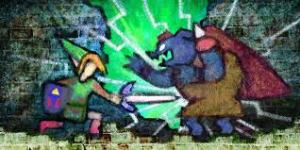 THE LEGEND OF ZELDA: A LINK BETWEEN WORLDS Link and Ganondorf