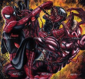 Spider-Man, Venom and Carnage by twynsunz-d4snsix