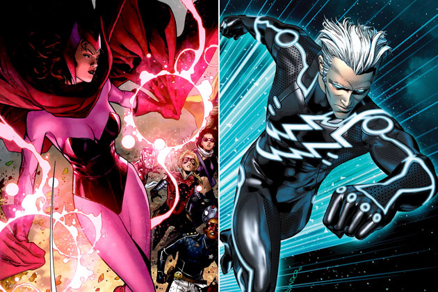 Comic Versions Scarlet Witch and Quicksilver