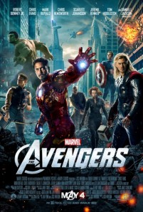 Steve Rogers nearly in the background of the final poster for 'The Avengers.'