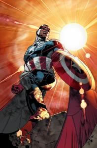 Sam Wilson as Captain America in Mavel Now! Comics