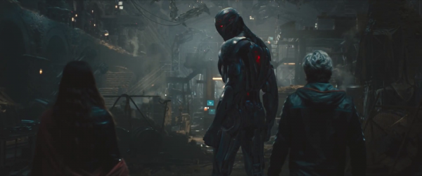 Ultron stands aside Scarlet Witch and Quicksiler
