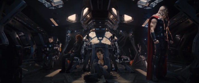 Stark is the only one not on the Quinjet. Is he flying Iron Man style instead? Or has he alienated the Avengers... or taken a slightly different stance from them... or is he taking a leave of absence after blaming himself for the creation of Ultron? Again, lots of questions, just speculations for answers.