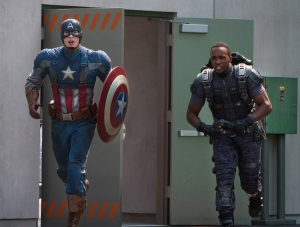 Captain America and Falcon in 'Winter Soldier'