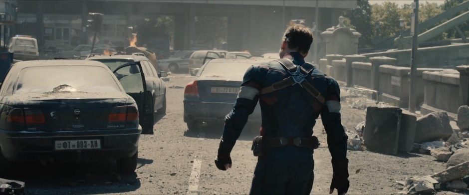 Captain America assesses destruction in Age of Ultron