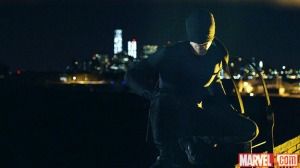 Daredevil as he will appear on Netflix in this first look at his (1st?) costume