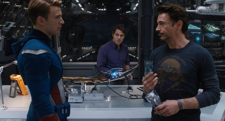 Tony Stark and Steve Rogers in 'Avengers'