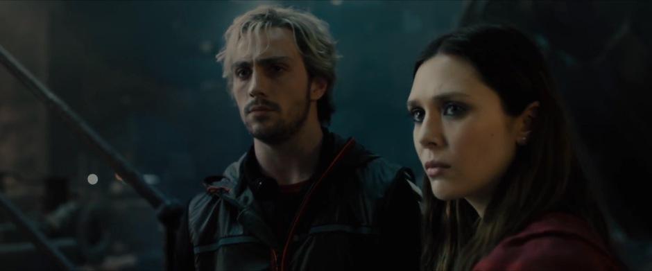 Pietro and Wanda Maximoff Take In Ultron's Lair.