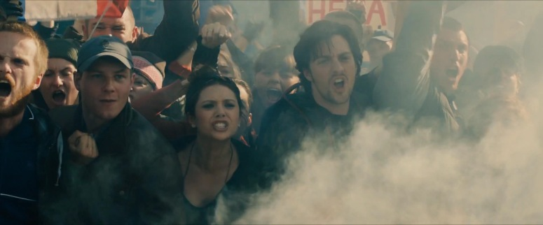 The Maximoff Twins sure are angry about something. What are they protesting/revolting about? Is it an anti-Avengers rally? And is this before or after they were experimented on? There are obviously many questions to answer.