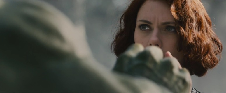 Hulk and Black Widow Have A Moment