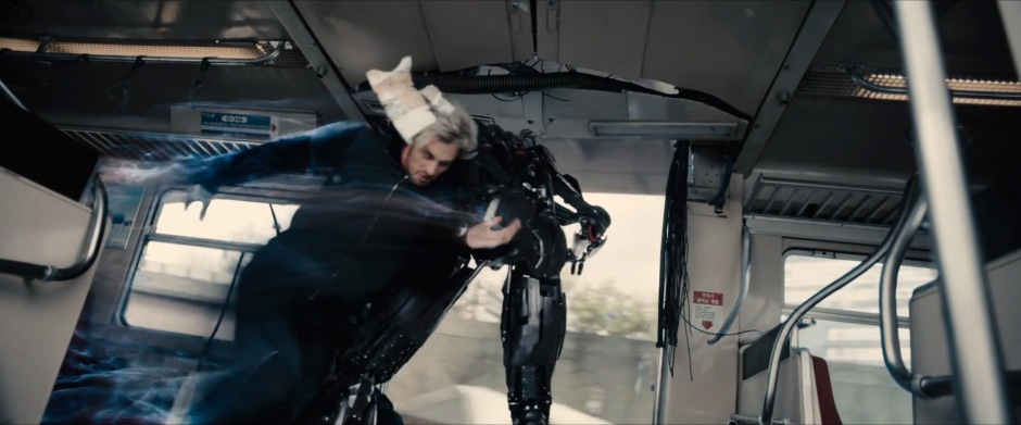 """Later in the film, Quicksilver checks an Ultron drone, saving Captain America. So by the end of the film """"the twins"""" are official, card carrying Avengers!"""