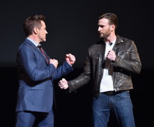 'Civil War' means mano a mano for Chris Evans and Robert Downey Jr.