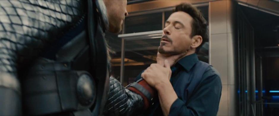 Thor Attacks Stark