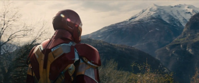 Tony Stark surveys the area around Baron Strucker's castle? Or is that Wakanda? (More on that later.)