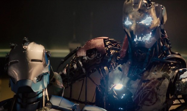 Ultron Holds A Second Drone... Or Is That an Iron Man suit?