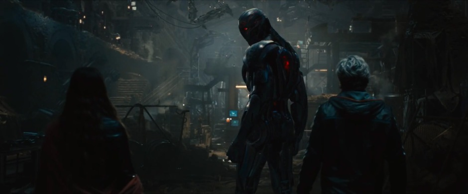 Ultron brings Scarlet Witch and Quicksilver into his lair.