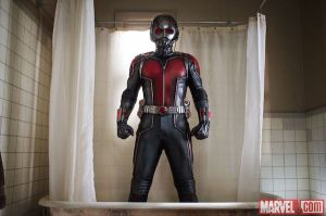 Ant-Man in the shower