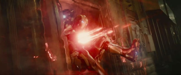 And Iron Man takes the hit!