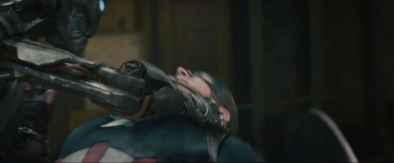 Captain America takes on an Ultron Drone