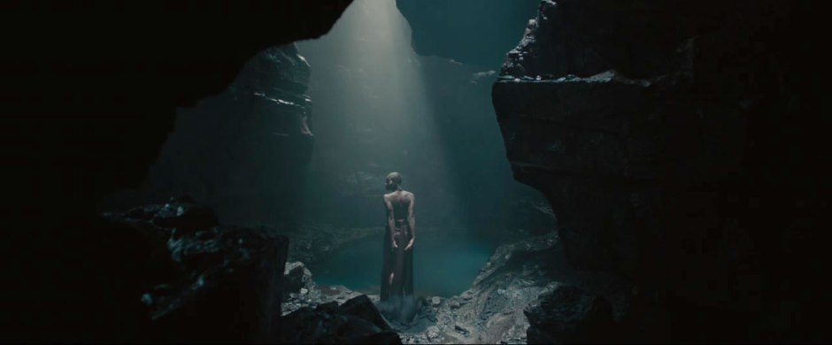 Is this the same woman from the Thor shot? She is entering a pool of water... and Thor did pop out of water shirtless and in pain in the 1st trailer...