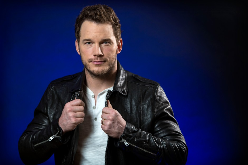 Chris Pratt in Leather Jacket