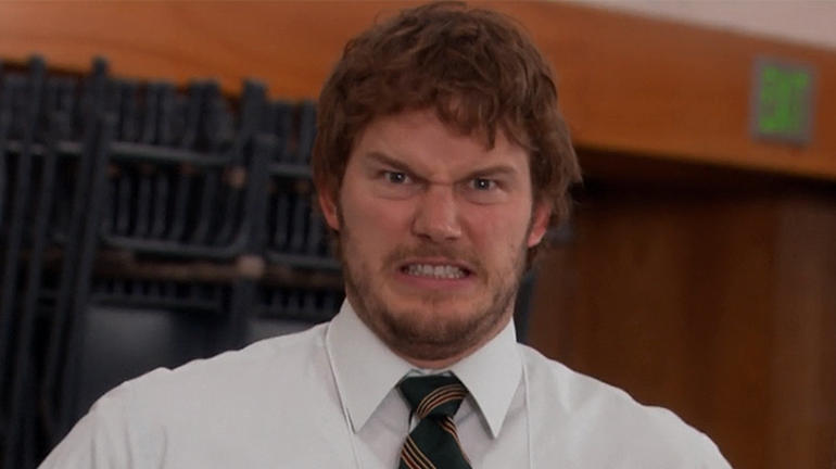 Chris Pratt as Andy Dwyer