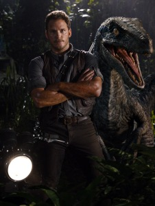Chris Pratt and his Velociraptor