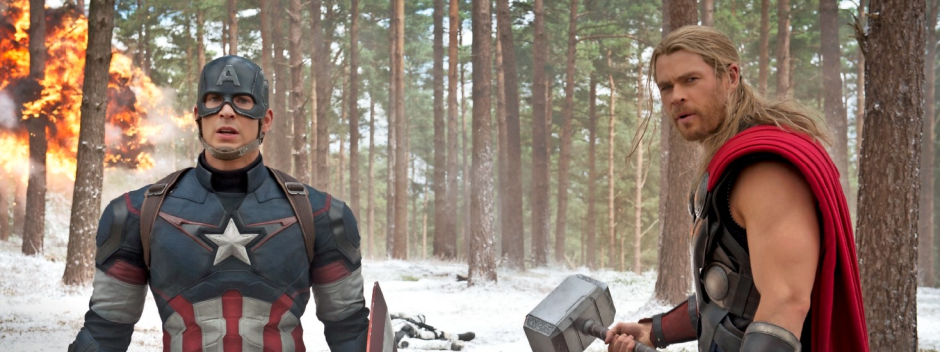 Thor and Captain America in 'Age of Ultron'