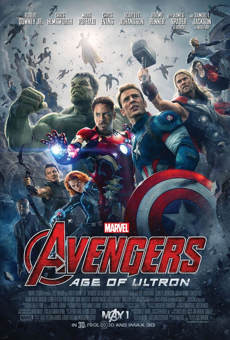 The official poster for 'Avengers: Age of Ultron.'