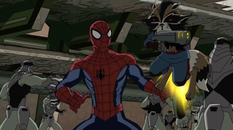 Spider-Man and Rocket