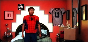 Troy's (Donald Glover) Spider-Man PJs on 'Community'