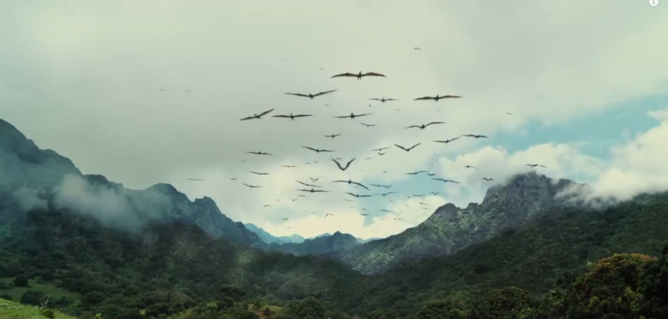 Pterodactyls! Spooked by Indominus Rex tramping around Isla Nublar?