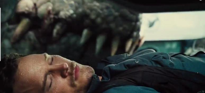 Pratt Hides Indominus Rex Jaws Jurassic World Trailer 2