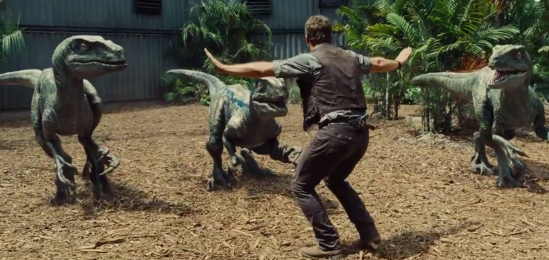 Raptor Training with Chris Pratt Jurassic World