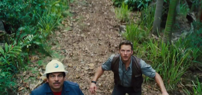 Scared of Indominus Rex Chris Pratt Jurassic World Trailer 2
