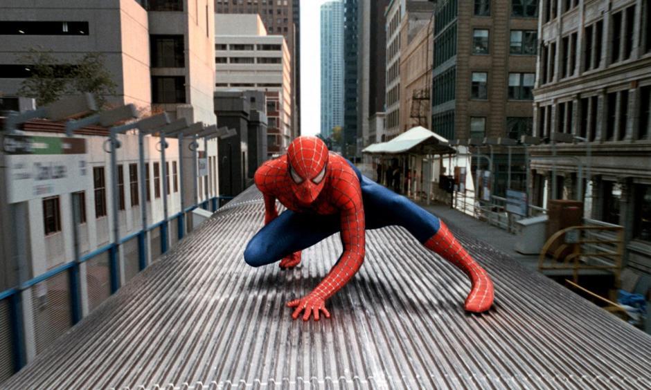 'Spider-Man 2' Spidey on a Train