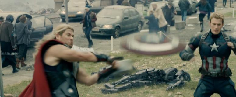 Baseball Captain America's Shield Thor Age of Ultron