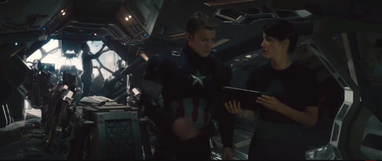 Avengers Age of Ultron Captain America briefed on Maximoff Twins
