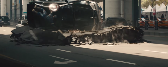 Avengers Age of Ultron Captain America Spinning Car
