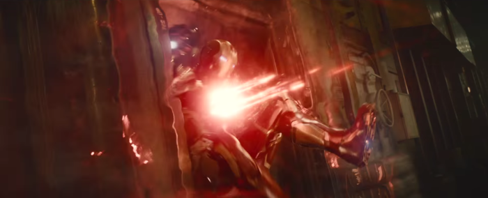 Avengers Age of Ultron Iron Man Takes Scarlet Witch Hit
