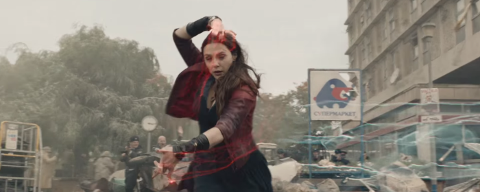 Avengers Age of Ultron Scarlet Witch Magic Casting