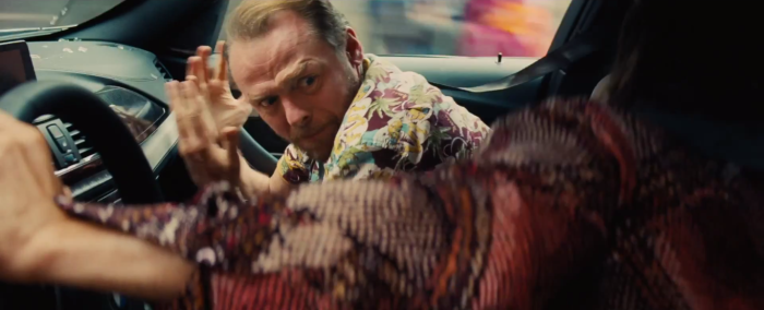 Benji Simon Pegg Car Jump Mission: Impossible - Rogue Nation
