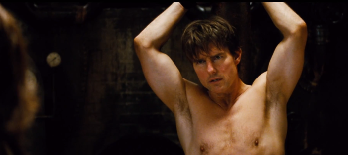 Ethan Hunt in Custody Mission: Impossible - Rogue Agent