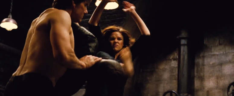 Ethan Hunt Tom Cruise and Woman Fight Baddies Mission: Impossible - Rogue Nation