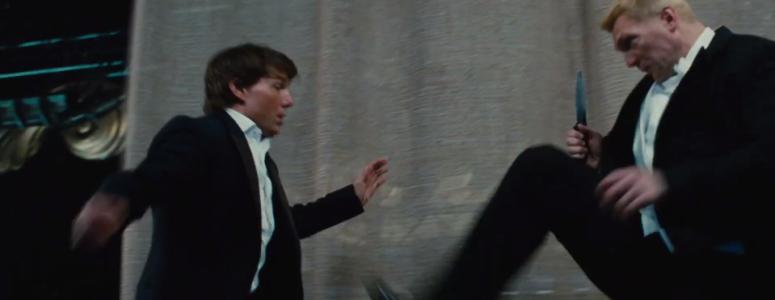 Ethan Hunt Tom Cruise fighting Mission: Impossible - Rogue Nation